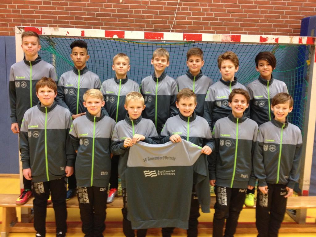 D1Jugend SGBO 2016_2017 Sponsor Stadtwerke Eckernförde